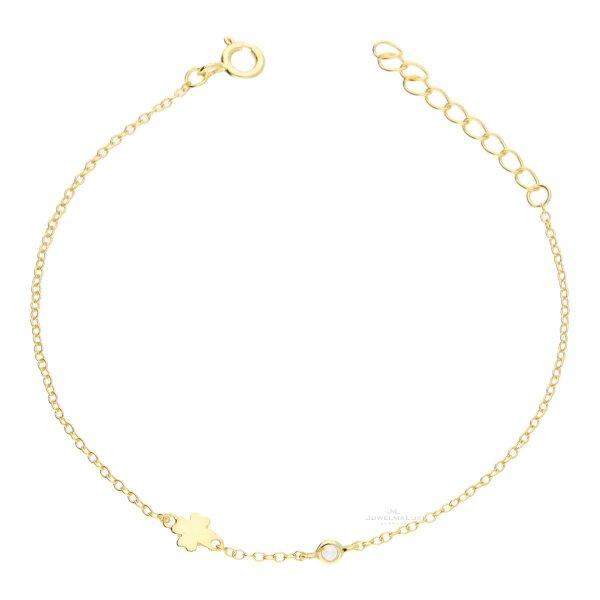 JuwelmaLux Kleeblatt Armband 925/000 Sterling Silber vergoldet JL16-03-0364