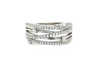 JuwelmaLux Ring 925/000 Sterling Silber mit synth....