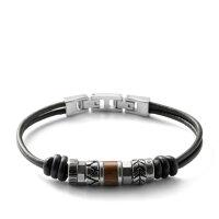 Fossil Herren Armband JF84196040 Leder schwarz