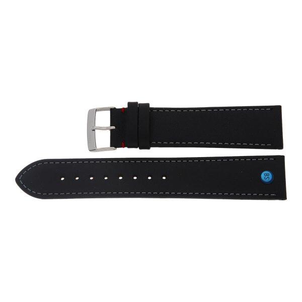 Bruno Söhnle Uhrenband 61-50270-122XL Leder schwarz 22 mm