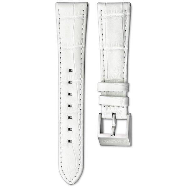 Swarovski Uhrenband 5099141 O-Dressy Leder weiß mit Coco Muster