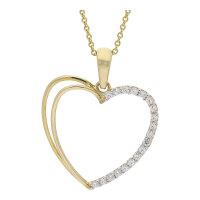 JuwelmaLux Anhänger 585/000 (14 Karat) Gold Herz mit...