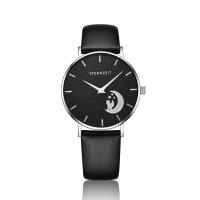 Sternzeit Armbanduhr Mondkind A14360101-001 Leder, schwarz