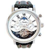 Fieseler Herren Uhr 8065 F4 Silberne Edition Automatik Leder