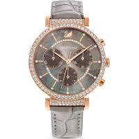 Swarovski Damen Uhr 5580348 Passage Chrono, Lederband...