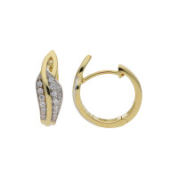 JuwelmaLux Creolen 925/000 Sterling silber gelbgoldplattiert mit Zirkonia JL20-06-0835