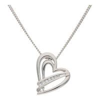 JuwelmaLux Anhänger 925/000 Sterling Silber Herz mit...