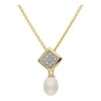 JuwelmaLux Perlanhänger 585/000 (14 Karat) Gold mit...