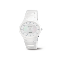 Boccia Damenarmbanduhr 3216-01 Keramik weiß, perlmutt