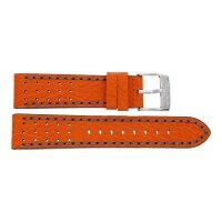 Festina Uhrenband F20377-4LB Leder orange mit grauer Naht