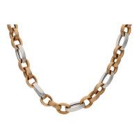 JuwelmaLux Halskette 585/000 (14 Karat) Rot- und...