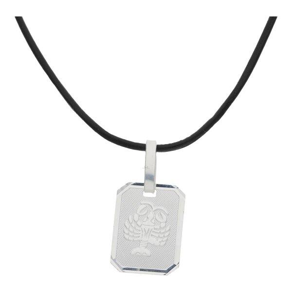JuwelmaLux Sternzeichen Anhänger mit Lederband 925/000 Sterling Silber Krebs JL16-05-0508