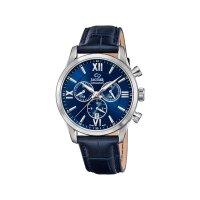 Jaguar Herren Uhr J884/2 Chronograph Swiss Made Leder blau