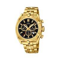 Jaguar Herren Uhr J853/4 Chronograph Edelstahl vergoldet