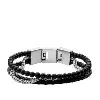 Fossil Armband JF03850040 Multistrands Onyx schwarz