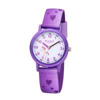 Regent Kinder Armbanduhr F-1365 Herzen lila