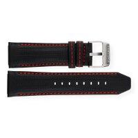Festina Uhrenband F16489/5LB Leder schwarz mit roter Naht