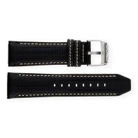 Festina Uhrenband F16489-2LB Leder schwarz mit beiger Naht