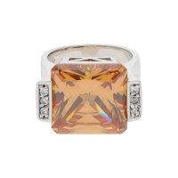M&M Damen Ring 925/000 Sterling Silber mit synth...