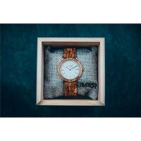 LAiMER Damen Uhr 0072 Leona Zebranoholz mit Marmor