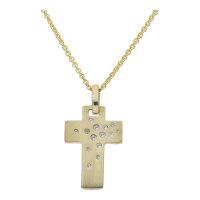 JuwelmaLux Anhänger Kreuz 333/000 Gold mit synth...