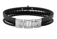 Fossil Armband JF03855040 Leder schwarz Kreuz