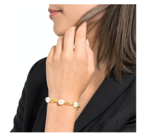 JOOP! Damen Armband 925/000 Sterling Silber vergoldet mit...