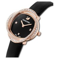 Swarovski Damen Uhr 5552421 Crystal Flower Lederarmband,...