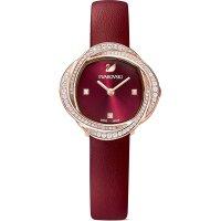 Swarovski Damen Uhr 5552780 Crystal Flower Lederarmband,...