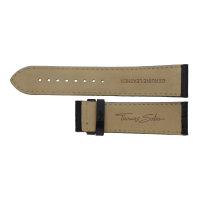 Thomas Sabo Uhrenband Leder mit Krokoprägung schwarz...