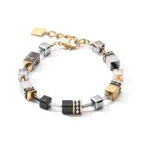 Coeur de Lion Armband 2839/30-1216 GeoCube grau-vergoldet
