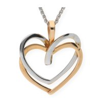 JuwelmaLux Anhänger Bicolor Herz 585er Gold 14 Karat...