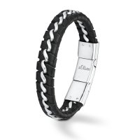 S. Oliver Herren Armband SO751/01 Leder schwarz