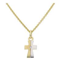 JuwelmaLux Kreuz Anhänger in 333er Gold und...